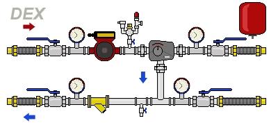 Смесительные узлы для гликолевых рекуператоров